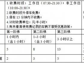 广州市中心六区城市道路临时泊位使用费标准