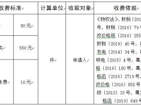 不动产登记收费一览表(更新时间2019年7月)珠海市不动产登记中心